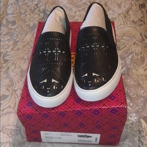 Tory Burch leather slip on